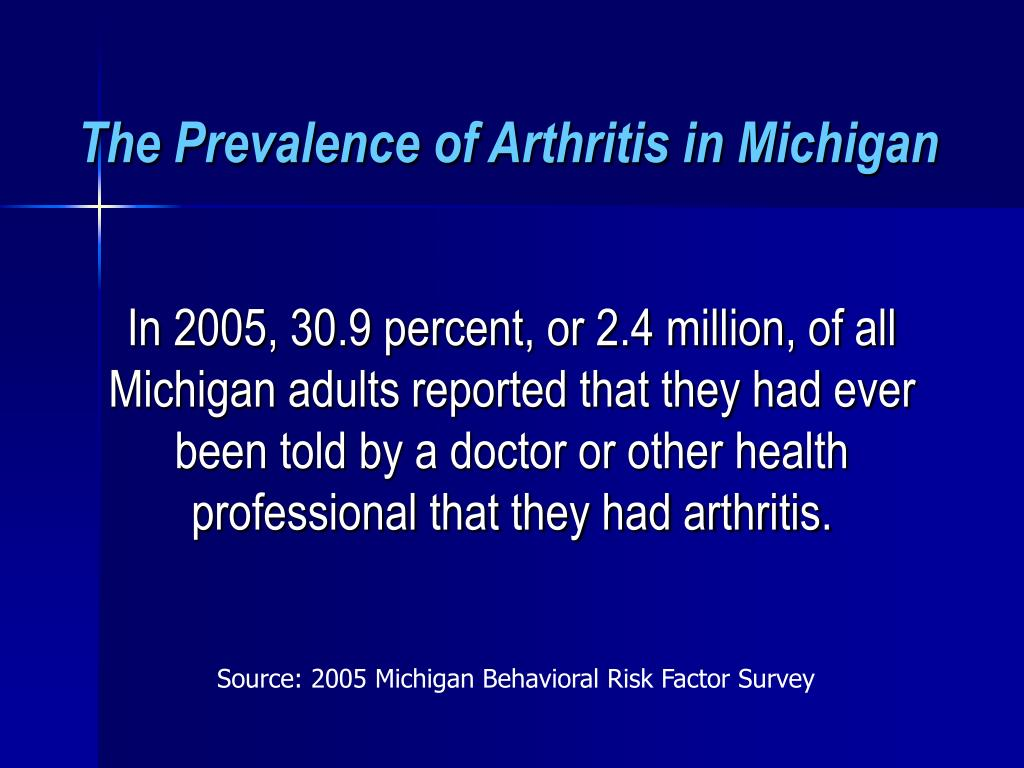 The Prevalence of Arthritis in Michigan