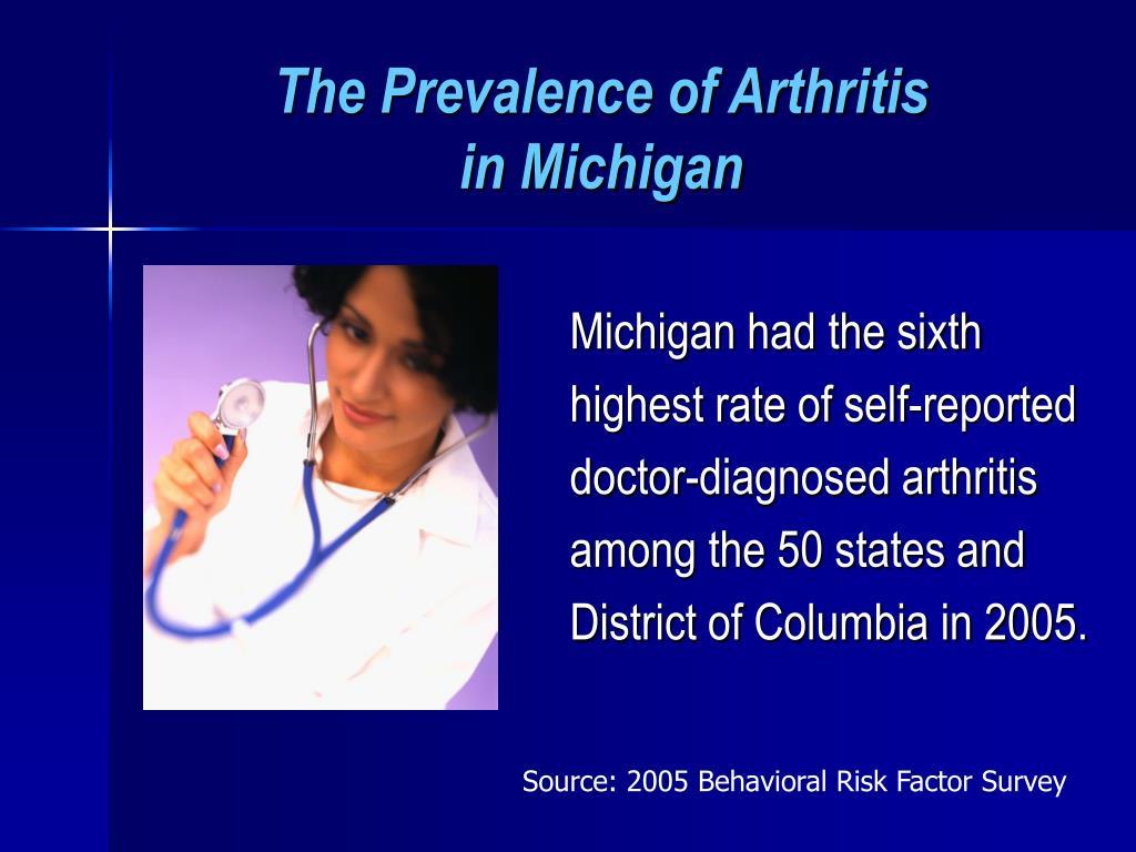 The Prevalence of Arthritis