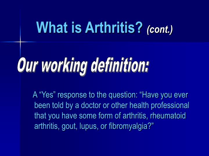 What is arthritis cont