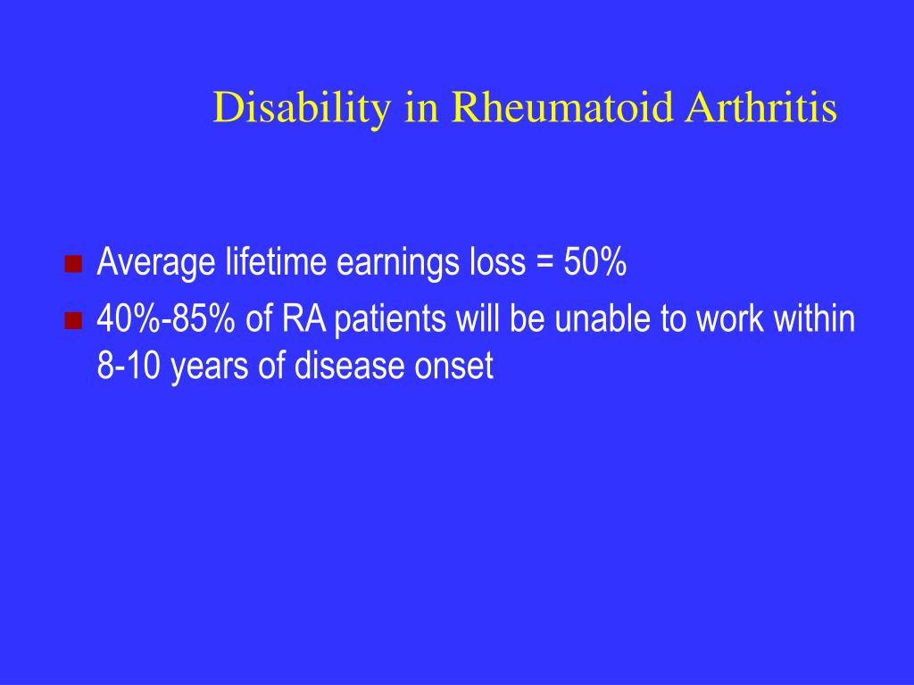 Disability in Rheumatoid Arthritis