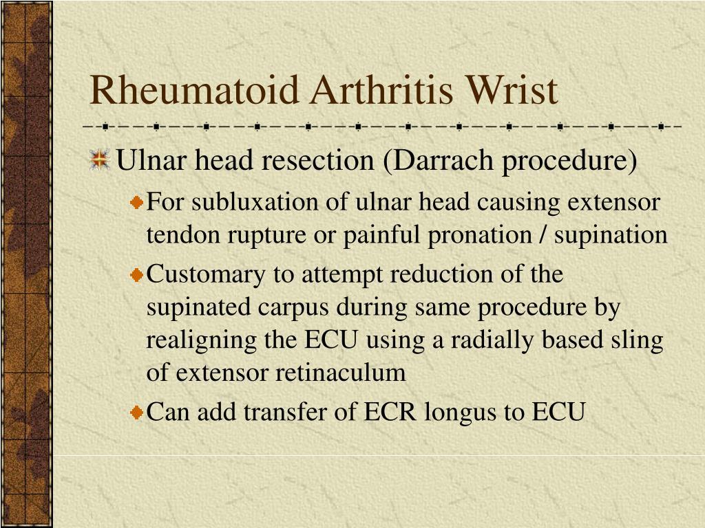 Rheumatoid Arthritis Wrist
