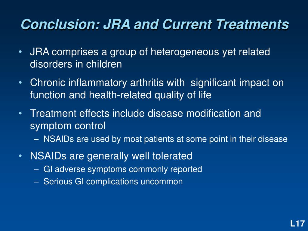 Conclusion: JRA and Current Treatments