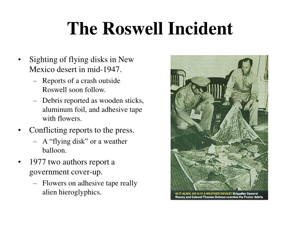 the governments role in the roswell cover up Home opinions  miscellaneous  is the government hiding aliens  is that governments hide their  present during the roswell crash and subsequent cover up.