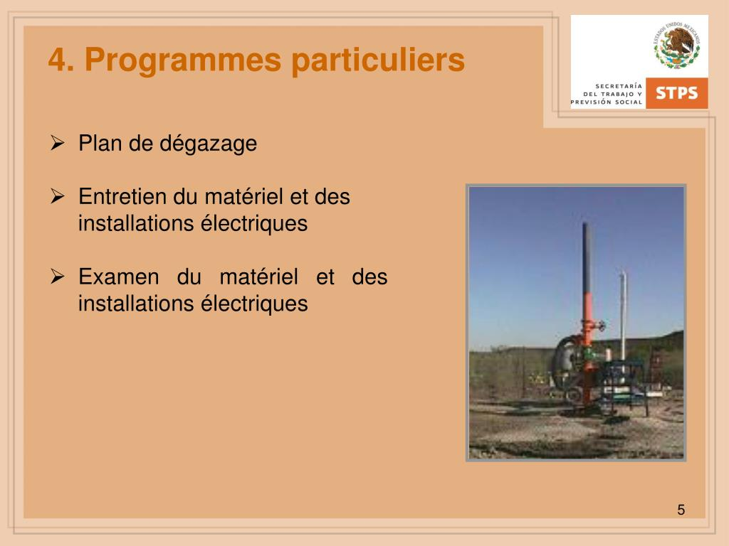 4. Programmes particuliers