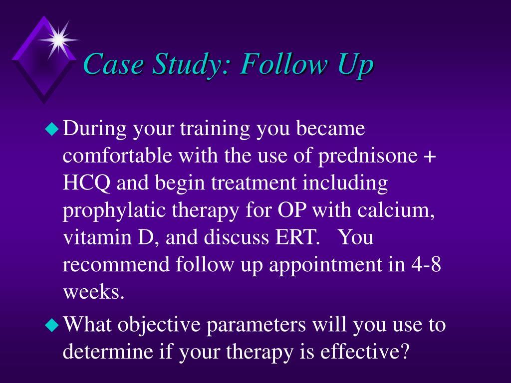 Case Study: Follow Up