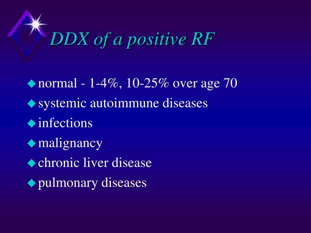DDX of a positive RF