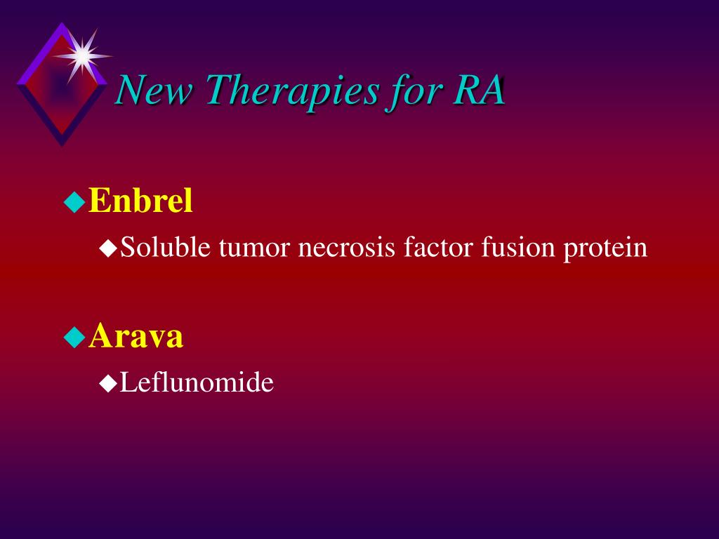 New Therapies for RA