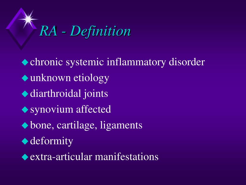 RA - Definition