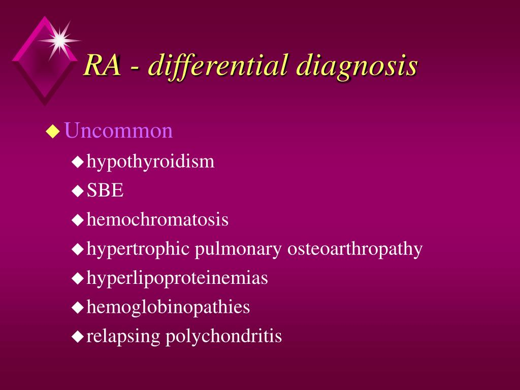 RA - differential diagnosis