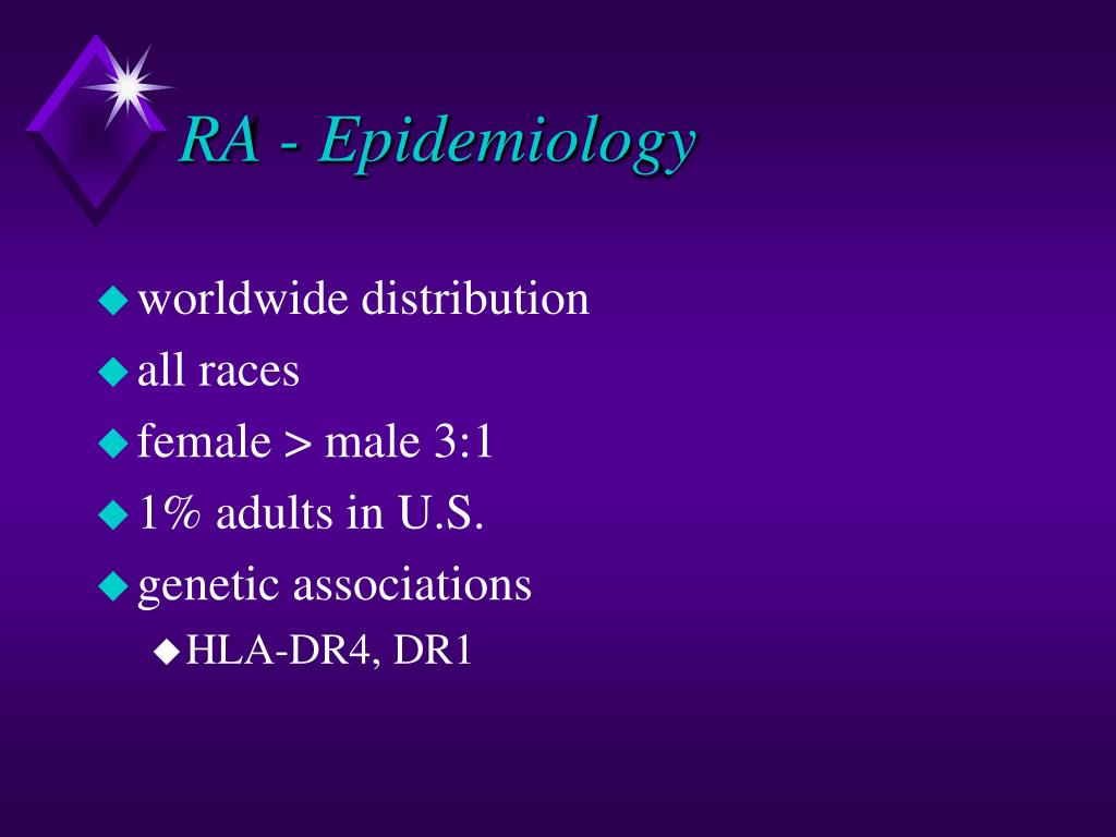 RA - Epidemiology