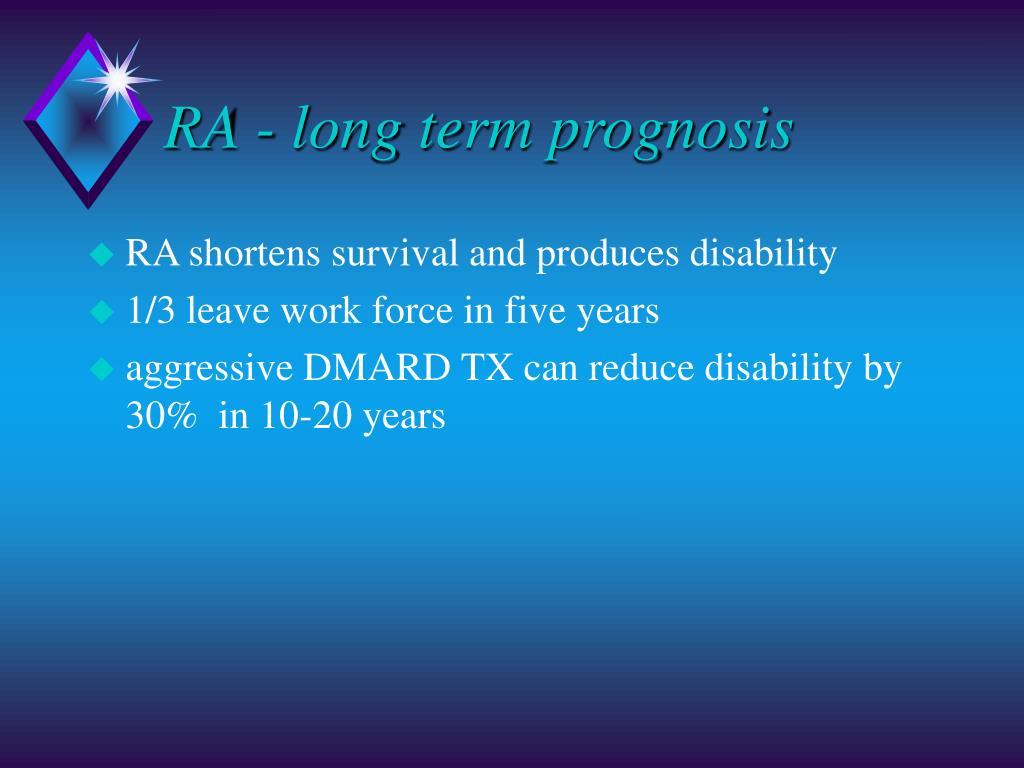 RA - long term prognosis