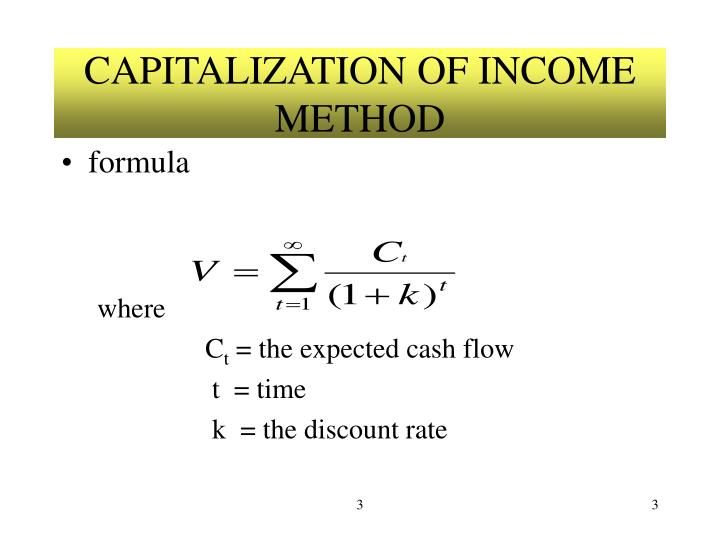 Capitalization of income method1
