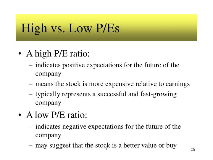 High vs. Low P/Es