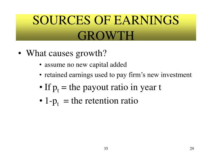 SOURCES OF EARNINGS GROWTH