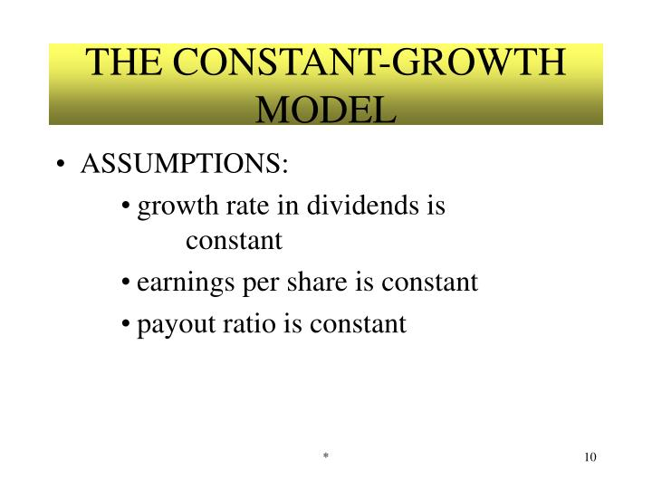 THE CONSTANT-GROWTH MODEL