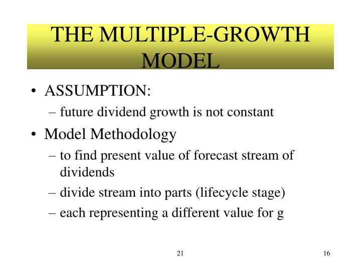 THE MULTIPLE-GROWTH MODEL