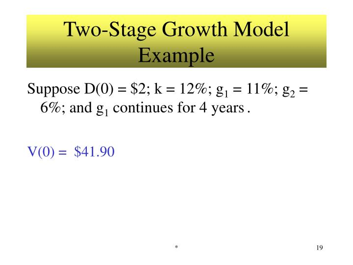 Two-Stage Growth Model Example