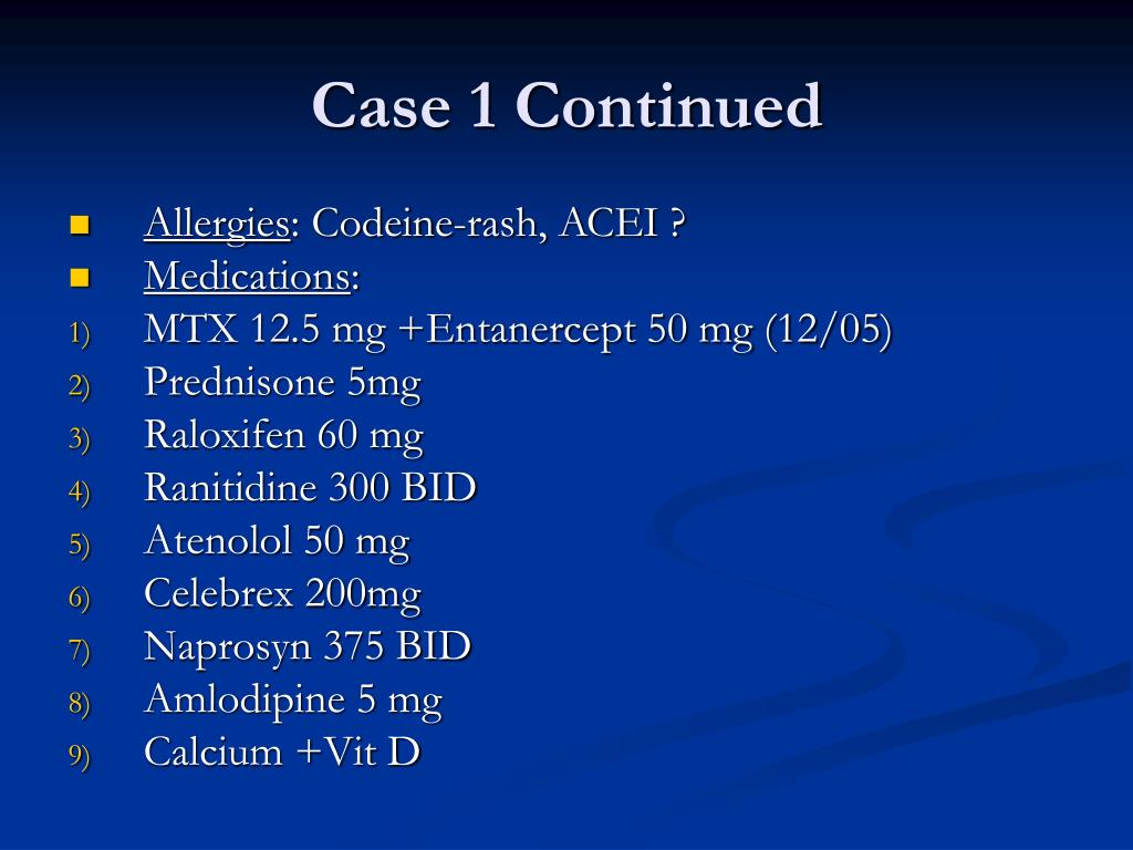 Case 1 Continued