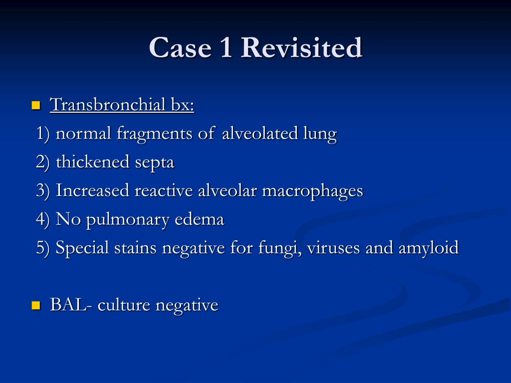 Case 1 Revisited