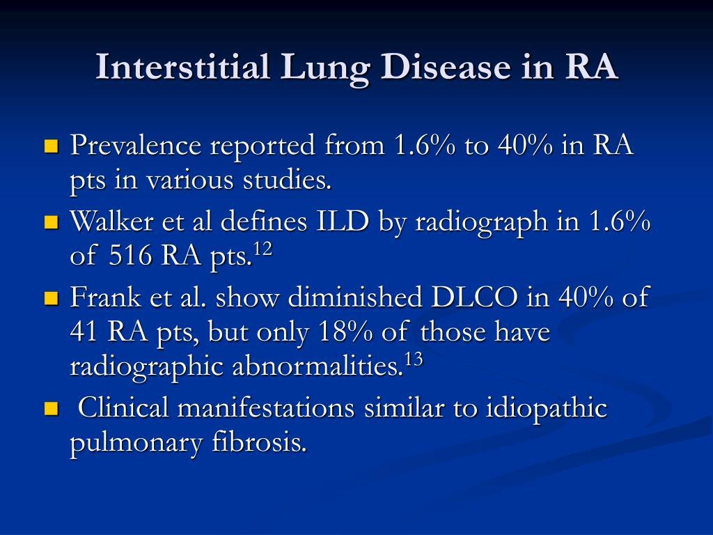 Interstitial Lung Disease in RA