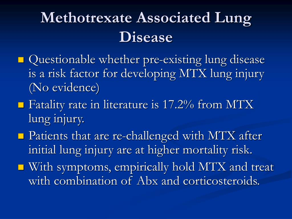 Methotrexate Associated Lung Disease