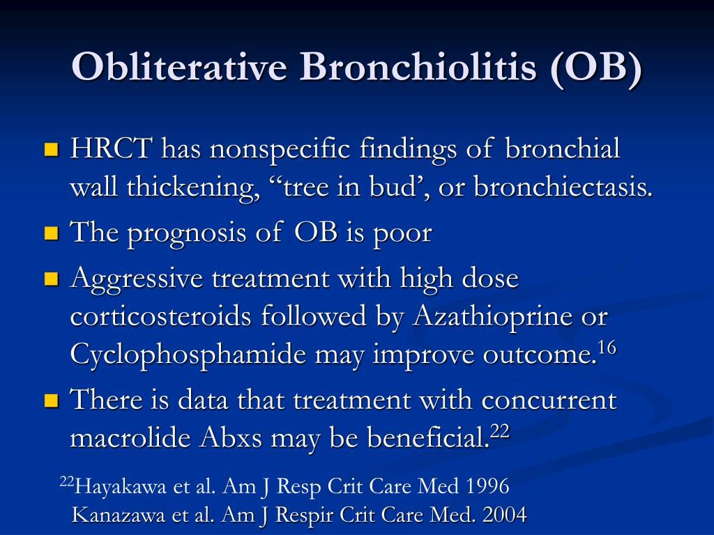 Obliterative Bronchiolitis (OB)