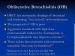 obliterative bronchiolitis ob57