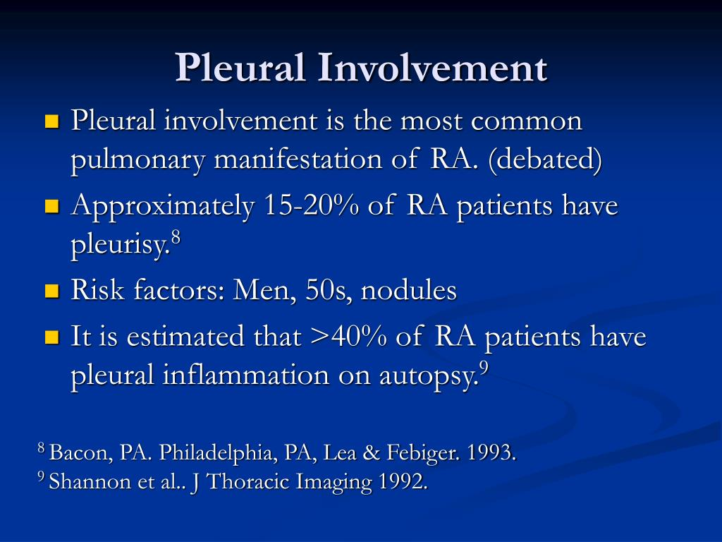 Pleural Involvement