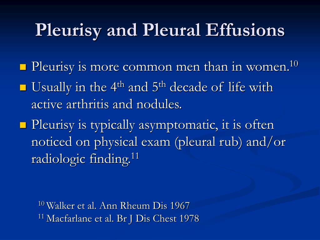 Pleurisy and Pleural Effusions
