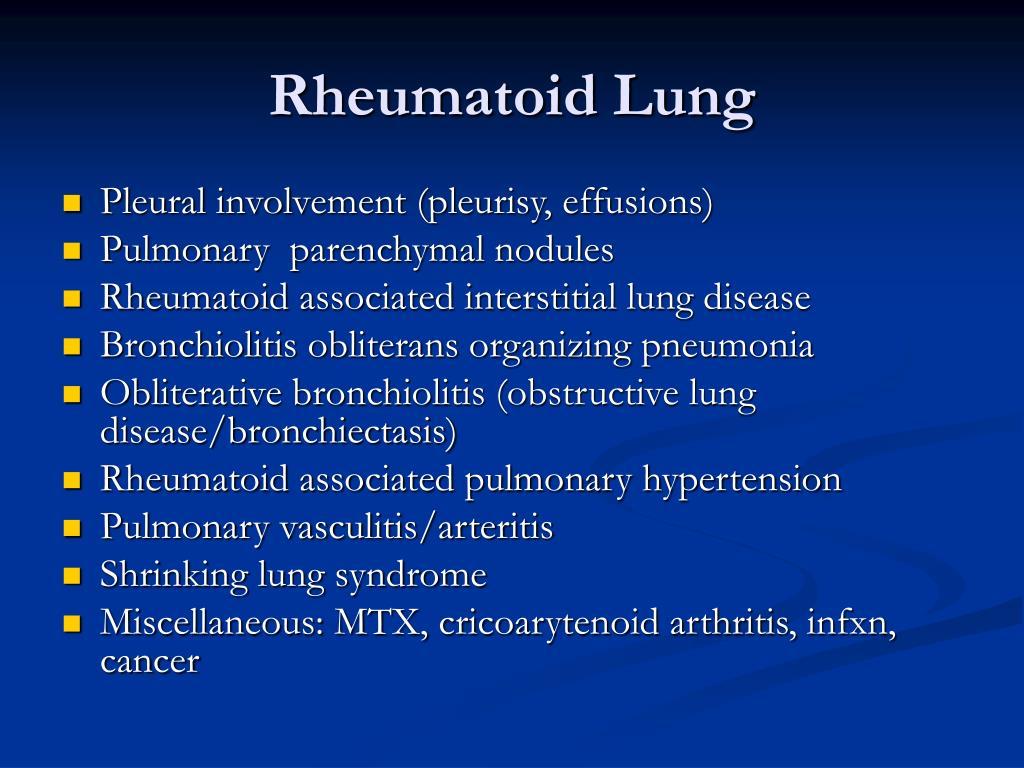Rheumatoid Lung