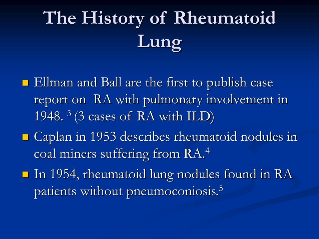 The History of Rheumatoid Lung