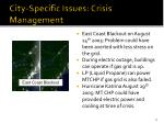 city specific issues crisis management
