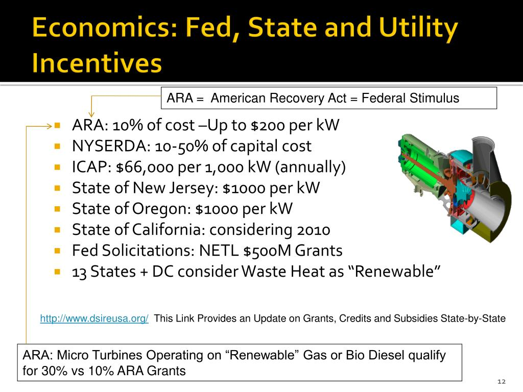 Economics: Fed, State and Utility Incentives