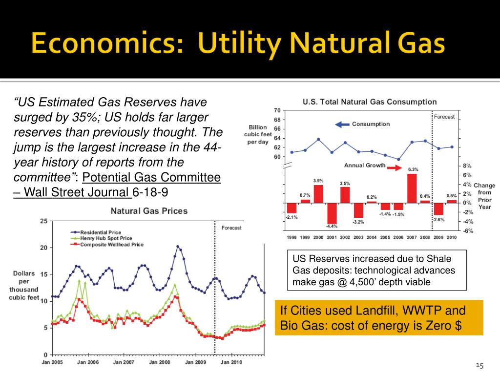 Economics:  Utility Natural Gas