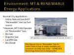 environment mt renewable energy applications