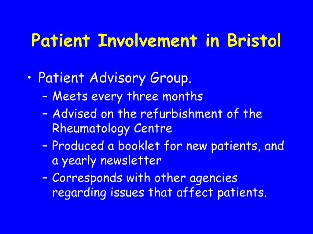Patient Involvement in Bristol