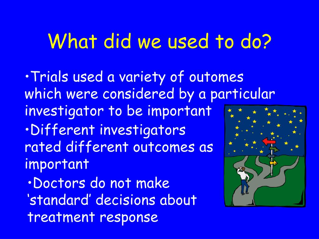 Different investigators rated different outcomes as important