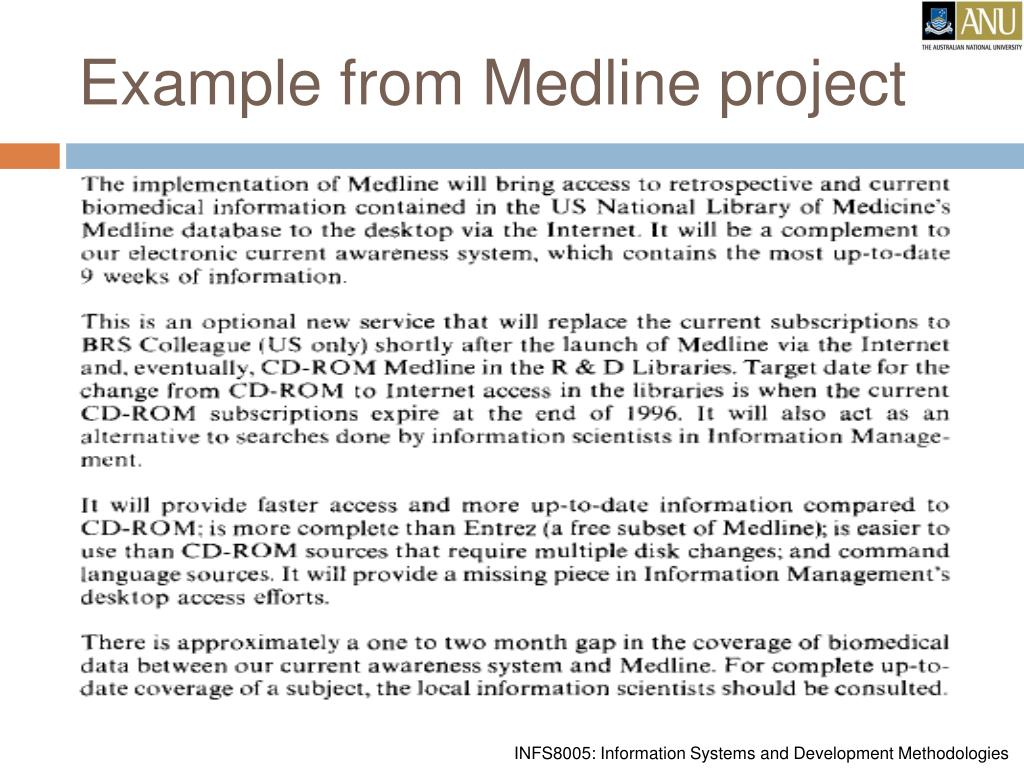 Example from Medline project