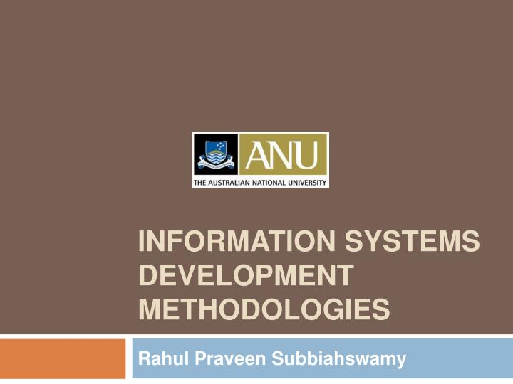 Information systems development methodologies l.jpg