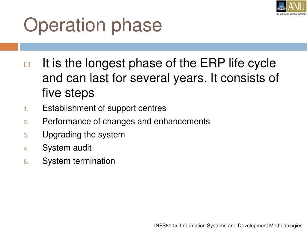 Operation phase