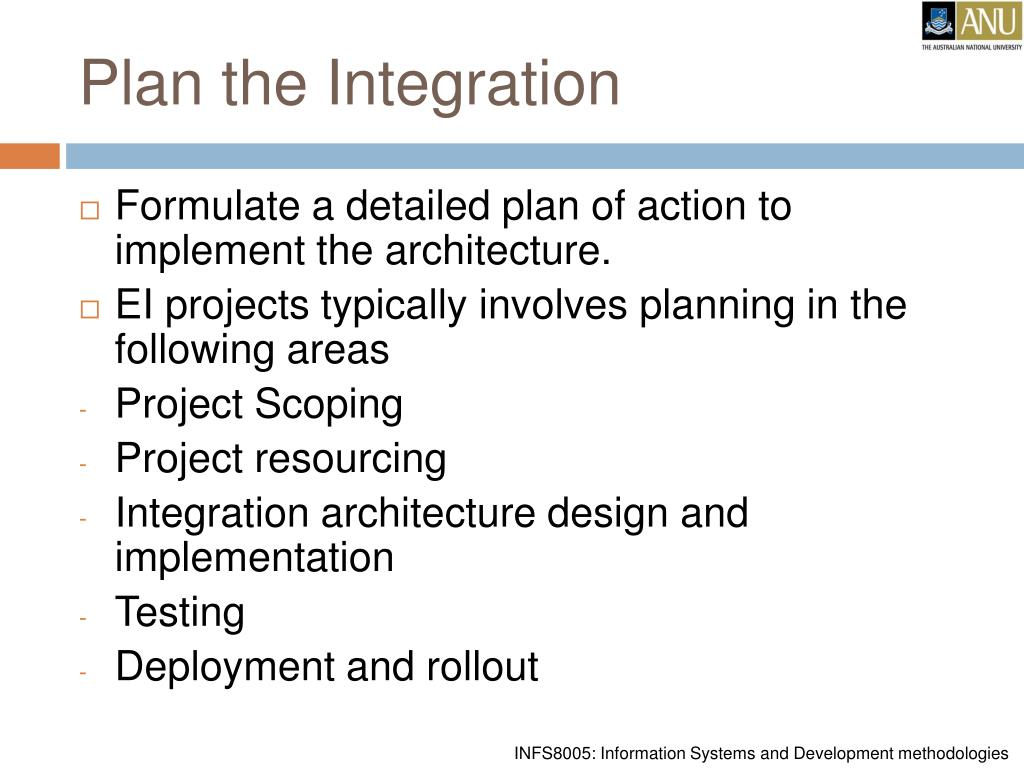 Plan the Integration