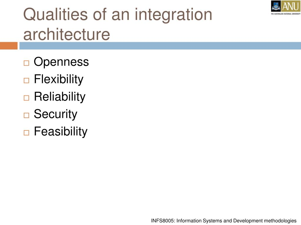 Qualities of an integration architecture