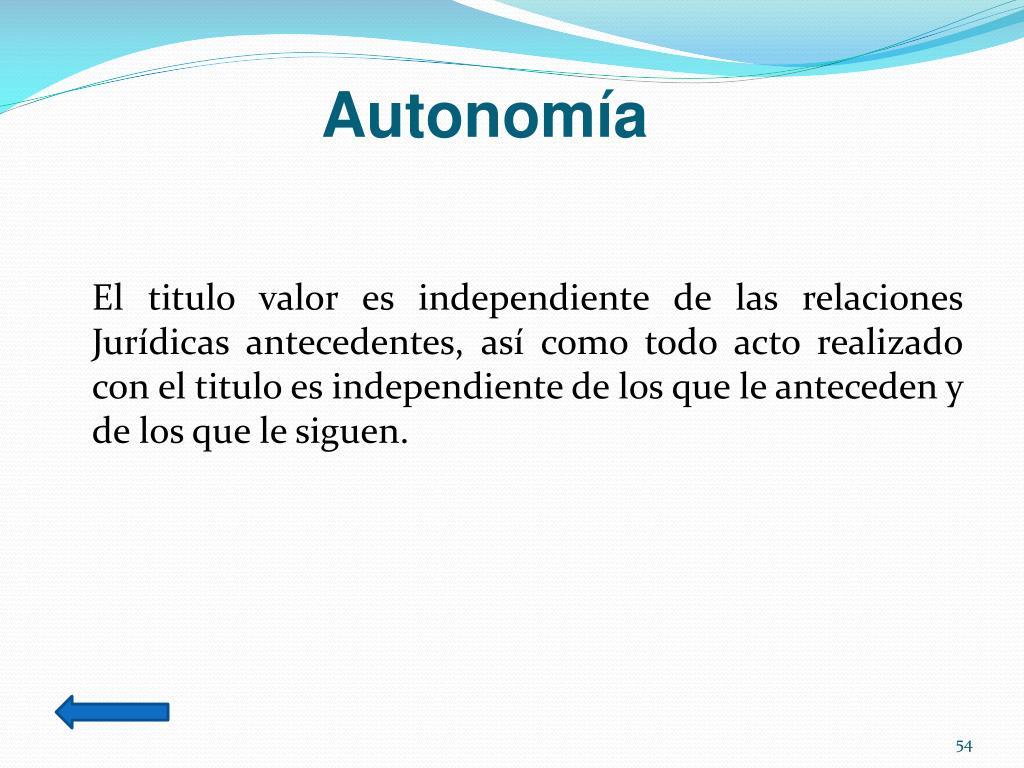Autonomía