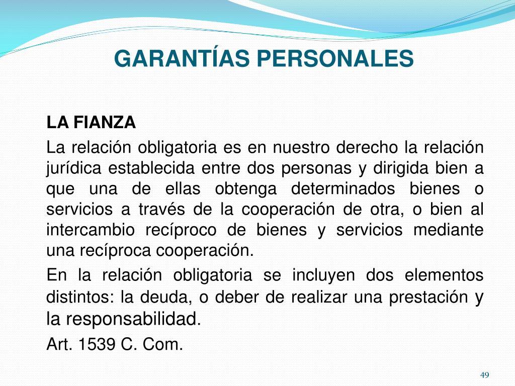 GARANTÍAS PERSONALES