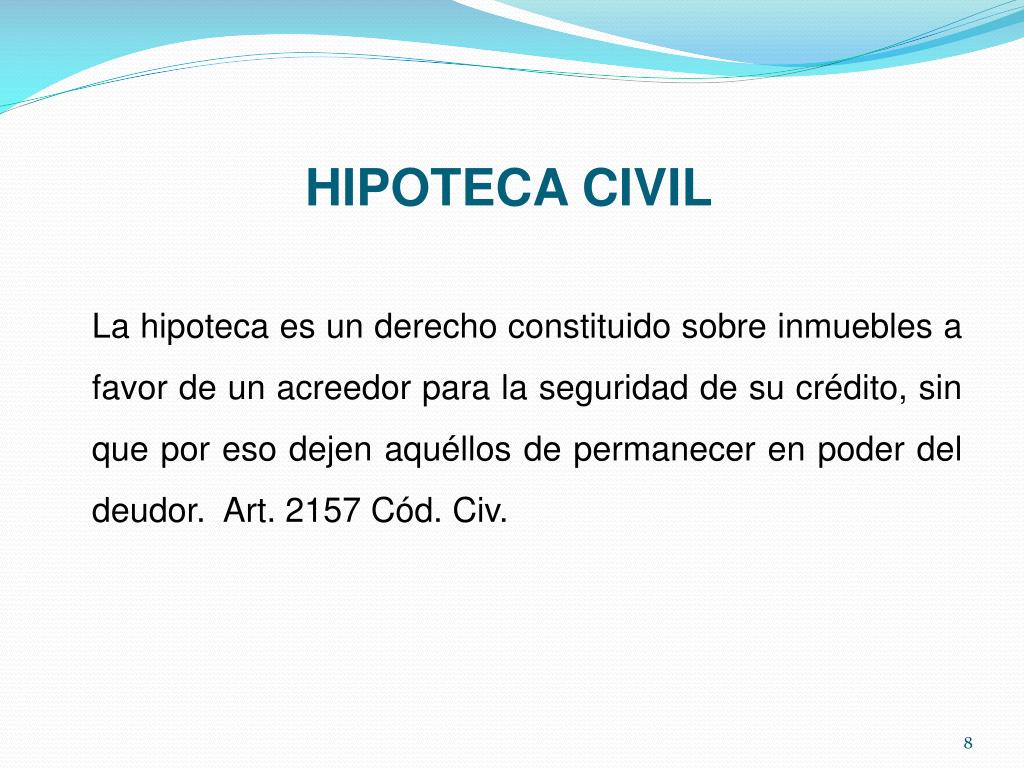 HIPOTECA CIVIL