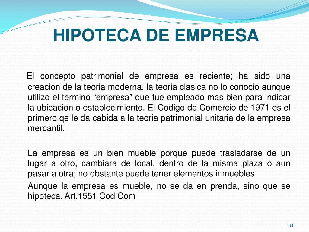 HIPOTECA DE EMPRESA