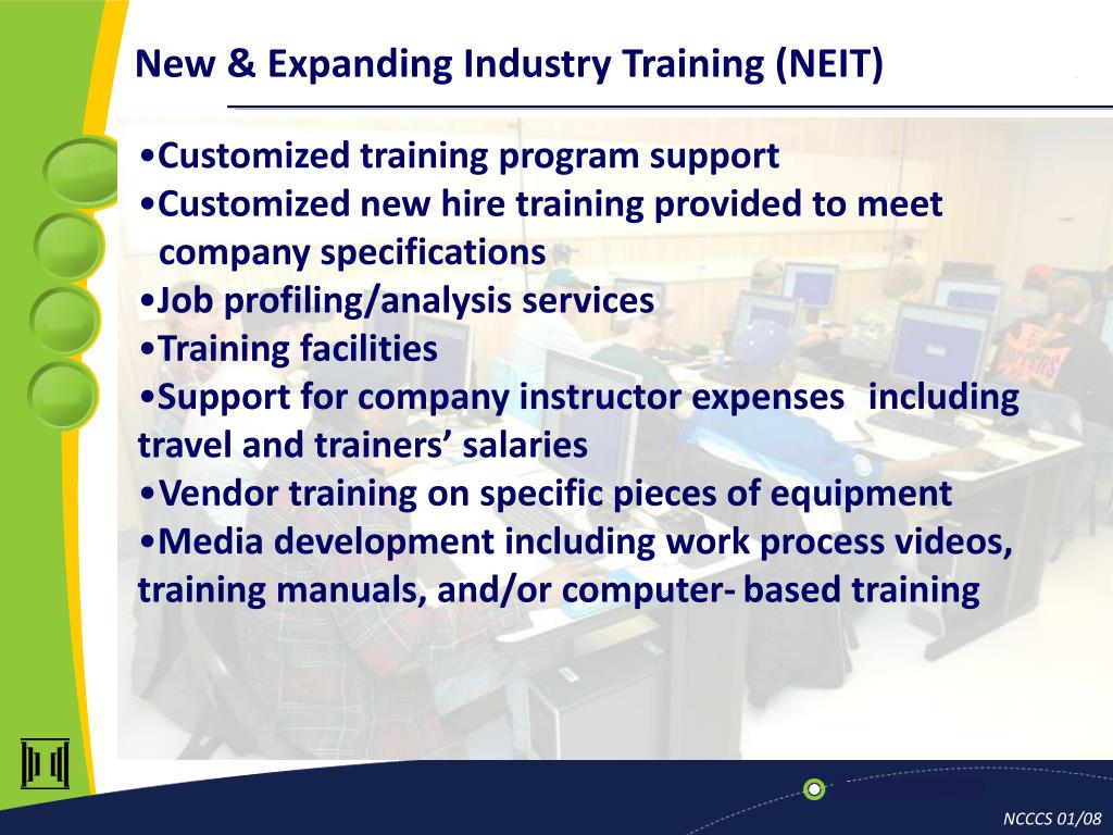 New & Expanding Industry Training (NEIT)