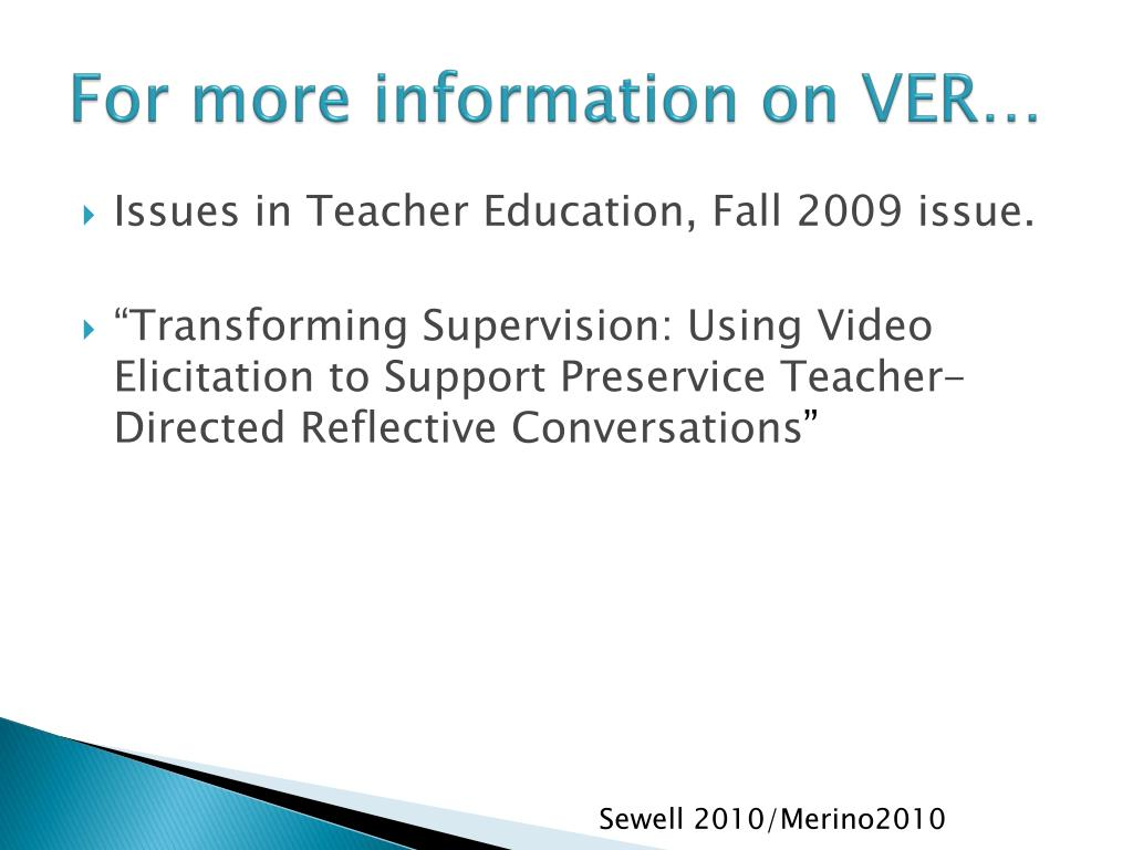 For more information on VER…