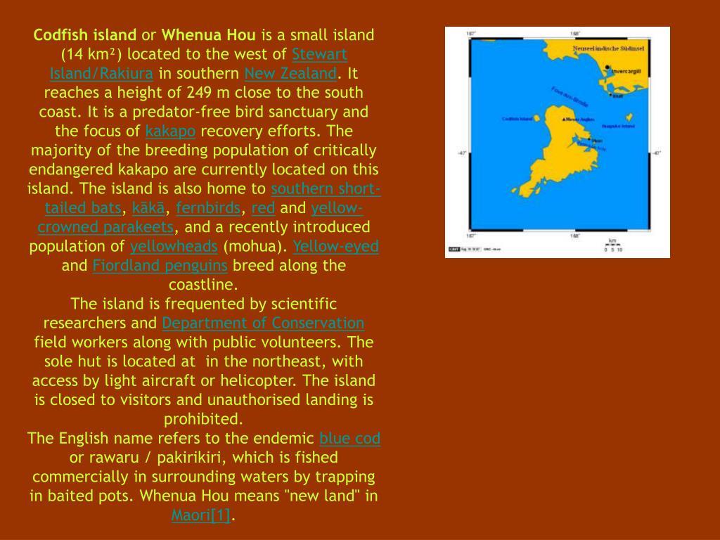 Codfish island