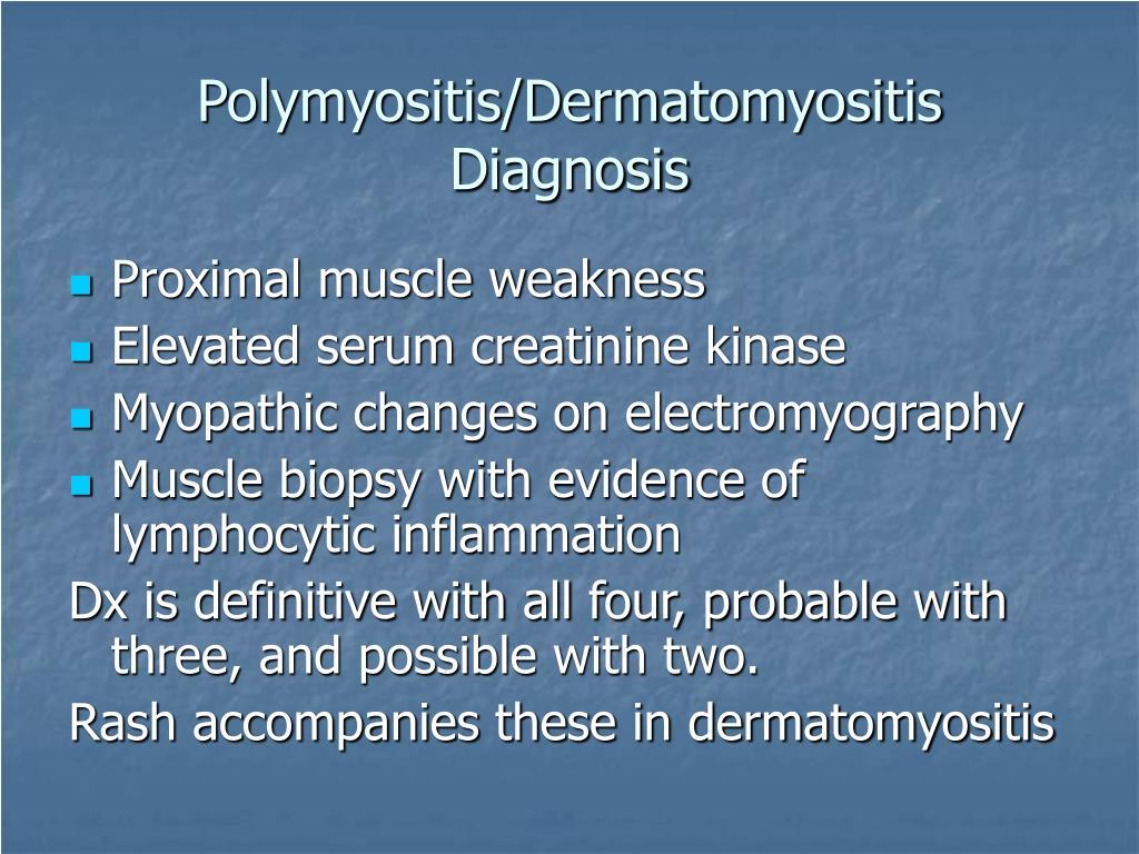 Polymyositis/Dermatomyositis Diagnosis